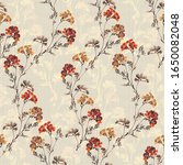 Small photo of hand block print traditional for apparel and seamless floral patterns