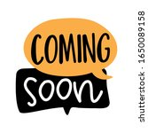 coming soon   card  text on... | Shutterstock .eps vector #1650089158