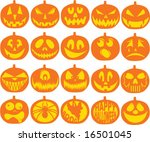 pumpkin icon vectors | Shutterstock .eps vector #16501045