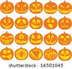 pumpkin icon vectors | Shutterstock .eps vector #16501045