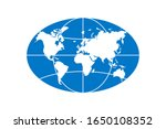 world planet map elongated... | Shutterstock .eps vector #1650108352