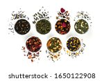 Assortment Of Dry Tea In Bowls...
