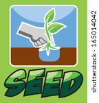 seed and plant | Shutterstock .eps vector #165014042
