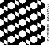 hexagons  rhombuses ornament.... | Shutterstock .eps vector #1650159778