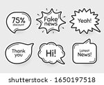 comic chat bubbles. fake news ...   Shutterstock .eps vector #1650197518