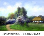 Paintings Rural Landscape  Old...