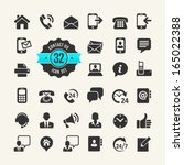 web icon set. contact us | Shutterstock .eps vector #165022388