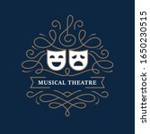 musical theatre mono line...   Shutterstock .eps vector #1650230515