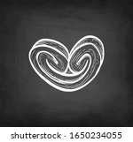 palmier. chalk sketch of french ... | Shutterstock .eps vector #1650234055