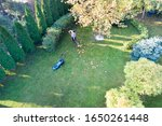 Aerial Image Of Woman Taking...