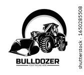 bulldozer logo design template... | Shutterstock .eps vector #1650285508