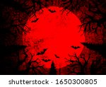 halloween holiday bloody red...   Shutterstock .eps vector #1650300805