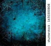 halloween holiday blue teal...   Shutterstock .eps vector #1650300808
