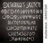 vector illustration of chalk... | Shutterstock .eps vector #165037265