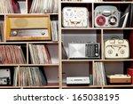 vintage radios | Shutterstock . vector #165038195
