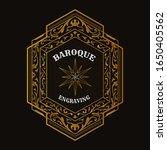 baroque vintage badge western...   Shutterstock .eps vector #1650405562