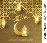 ramadan kareem backgroung with... | Shutterstock .eps vector #1650420805