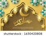 ramadan kareem backgroung with... | Shutterstock .eps vector #1650420808