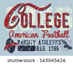retro style college sports... | Shutterstock .eps vector #165045626