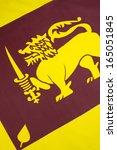 the national flag of sri lanka  ... | Shutterstock . vector #165051845