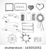 set of design elements  borders ... | Shutterstock .eps vector #165052052