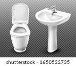 toilet bowl and sink for... | Shutterstock .eps vector #1650532735