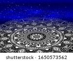 mandala on galaxy background.... | Shutterstock .eps vector #1650573562