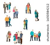 people stand  group family... | Shutterstock .eps vector #1650584212