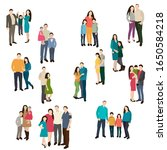 isolated  people stand  group... | Shutterstock .eps vector #1650584218