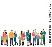 vector  isolated  people stand  ... | Shutterstock .eps vector #1650584242
