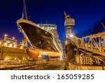 ship in dry dock  bahamas | Shutterstock . vector #165059285