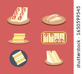 sandwiches set concept... | Shutterstock .eps vector #1650599545