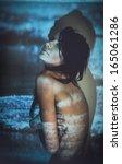 beautiful fashion woman color... | Shutterstock . vector #165061286