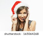 Christmas Santa Business Woman...