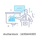 business coach at the... | Shutterstock .eps vector #1650644305
