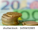 background from euro coins on... | Shutterstock . vector #1650652885