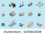 nursing home isometric set with ... | Shutterstock .eps vector #1650662038