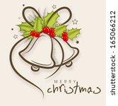 merry christmas celebration... | Shutterstock .eps vector #165066212