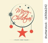 merry christmas celebration... | Shutterstock .eps vector #165066242