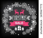christmas poster sale... | Shutterstock .eps vector #165067772