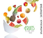fruits   Shutterstock . vector #165069368