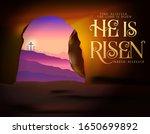 he is risen easter vector...   Shutterstock .eps vector #1650699892