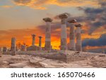 ruined athena temple in assos ... | Shutterstock . vector #165070466