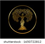 Abstract Woman Tree Logo With...