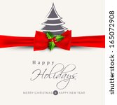 happy holidays concept with... | Shutterstock .eps vector #165072908