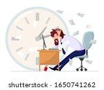 brown haired bearded man in... | Shutterstock .eps vector #1650741262