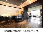new and clean luxury restaurant ... | Shutterstock . vector #165074375