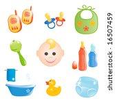 baby icons set. vector... | Shutterstock .eps vector #16507459