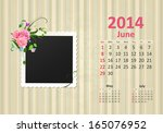Calendar For 2014  June