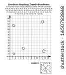 coordinate graphing  or draw by ... | Shutterstock .eps vector #1650783868